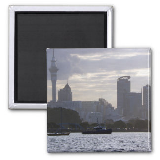 Skytower and Cityscape Refrigerator Magnet