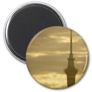 Skytower At Sunset Magnet