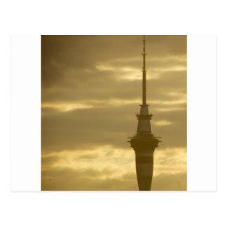 Skytower At Sunset Postcard