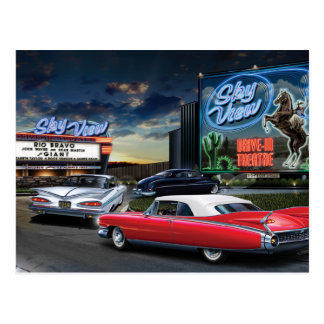 Skyview Drive In Postcard