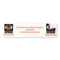 Skywarn bumper sticker