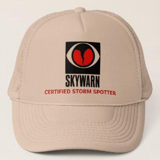 skywarn large, CERTIFIED STORM SPOTTER Trucker Hat
