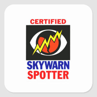SkyWarn Square Stickers