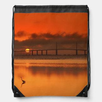 Skyway Bridge Drawstring Backpack