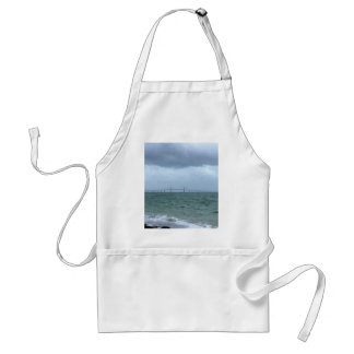 Skyway on a stormy day adult apron