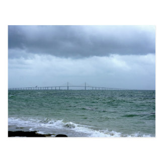 Skyway on a stormy day postcard