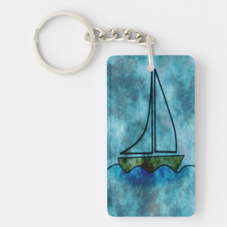 sl407.png Single-Sided rectangular acrylic keychain