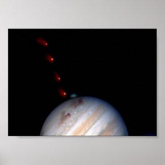 SL9 impacting Jupiter Posters