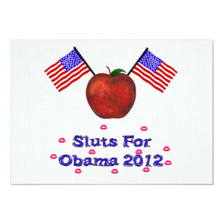 SL*TS FOR OBAMA CARD