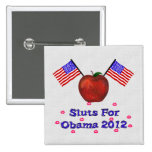 SL*TS FOR OBAMA PINBACK BUTTONS