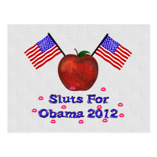 SL*TS FOR OBAMA POSTCARD