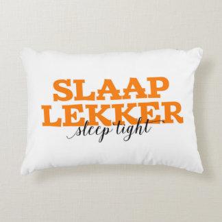 Slaap Lekker / Sleep Tight Dutch Vocabulary Words Decorative Pillow