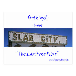 Slab City Postcard