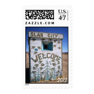 Slab City Welcome Postage Stamp