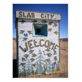 Slab City Welcome Postcard