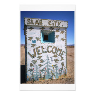 "Slab City "" Welcome"" Stationery"