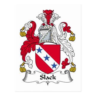Slack Family Crest Postcards