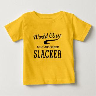Slacker de calidad mundial playera de bebé