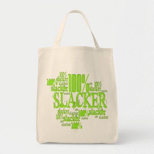Slacker del 100% - tote orgánico del ultramarinos bolsa tela para la compra