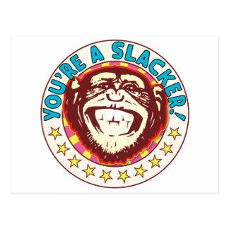 Slacker Monkey Postcard