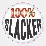 Slacker Tag Round Sticker