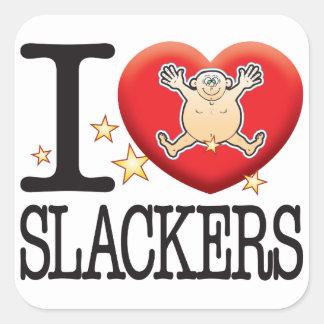Slackers Love Man Square Sticker