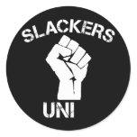 Slackers Unite Classic Round Sticker