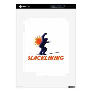 Slacklining Man iPad 2 Decals