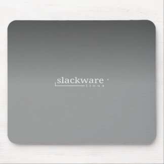 Slackware Linux Grey Mouse Pad