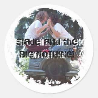 ¡Slade y el GRANDE NADA stiker Pegatina Redonda