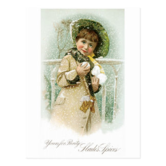 Slades Spices Girl with Snowballs Postcard