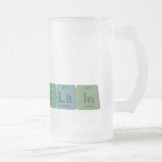Slain-S-La-In-Sulfur-Lanthanum-Indium.png Frosted Glass Beer Mug