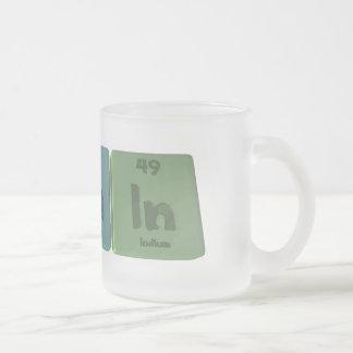 Slain-S-La-In-Sulfur-Lanthanum-Indium.png Frosted Glass Coffee Mug