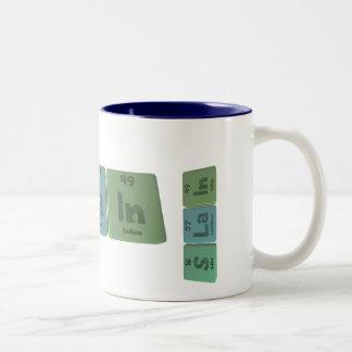 Slain-S-La-In-Sulfur-Lanthanum-Indium.png Two-Tone Coffee Mug
