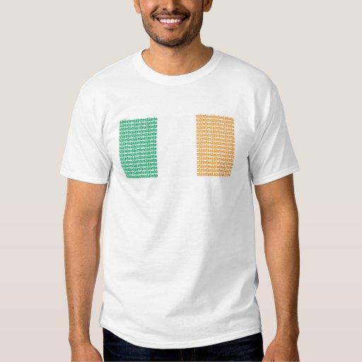 Slainte camiseta básica de la bandera playera