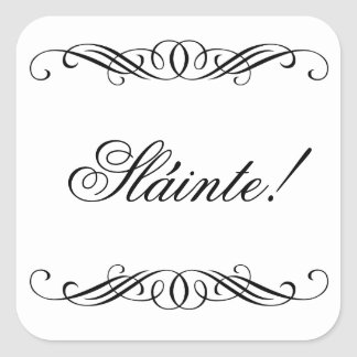 Slainte - Elegant Swirl Wedding Square Sticker