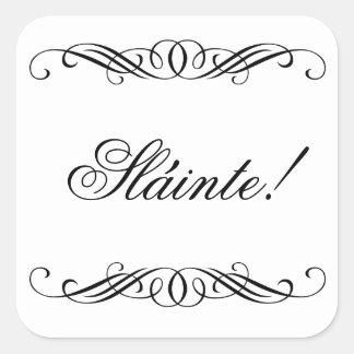 Slainte - Elegant Swirl Wedding Square Sticker