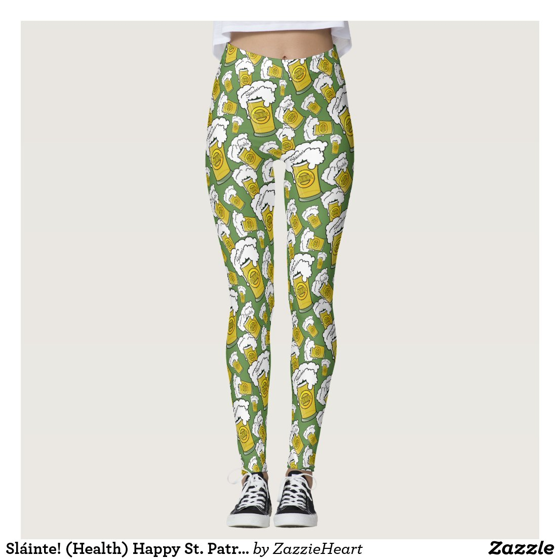 Sláinte! (Health) Happy St. Patrick's Day Leggings
