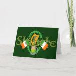 "Slainte Irish Toast ""Health"" St Patricks Day gifts Card"