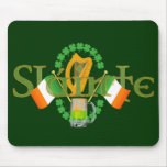 "Slainte Irish Toast ""Health"" St Patricks Day gifts Mouse Pad"