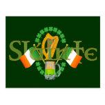 "Slainte Irish Toast ""Health"" St Patricks Day gifts Postcard"
