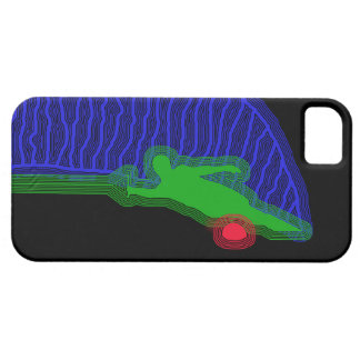 Slalom Water Skier Neon Spray iPhone SE/5/5s Case