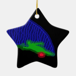Slalom Water Skier Neon Spray Ornaments