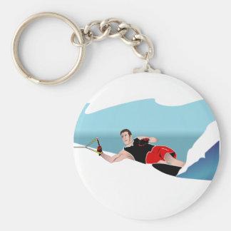 Slalom Waterskier Keychain