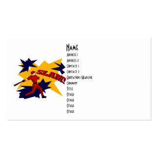SLAM BASEBALL WHITE BACKGROUND profile card Business Cards