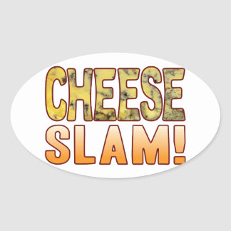 Slam Blue Cheese Oval Sticker