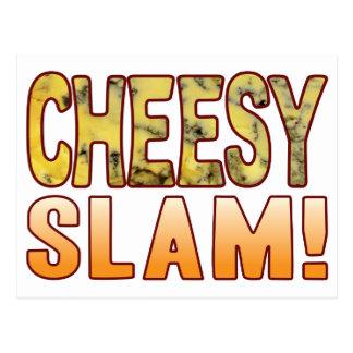 Slam Blue Cheesy Postcard