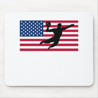 Slam Dunk American Flag Mouse Pad