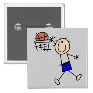Slam Dunk Basketball - Blue Tshirts and Gifts Pinback Button