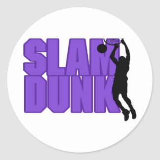 Slam Dunk Basketball Classic Round Sticker